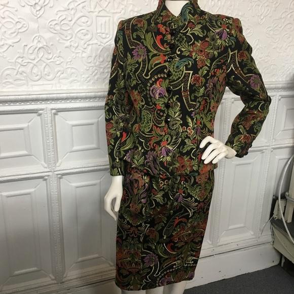 Christian Lacroix Dresses & Skirts - Christian Lacroix Brocade Skirt Jacket Suit